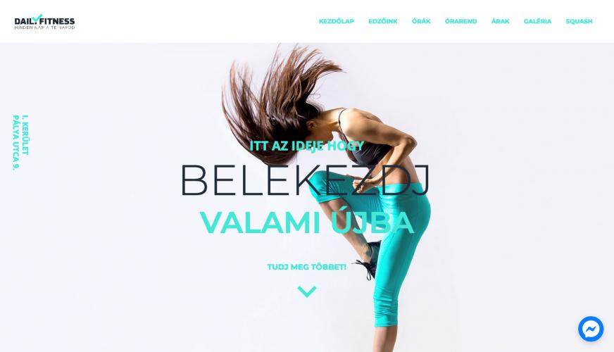 Daily Fitness weboldal