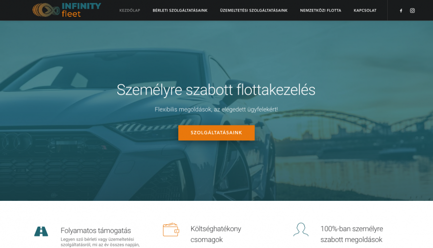 Infinity Fleet weboldal
